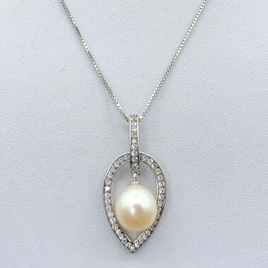 Halssmykke med perle